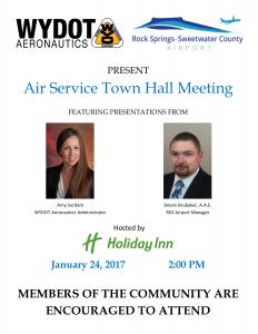 Air Service Town Hall Meeting Invititation - January 2017